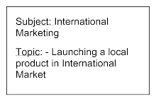 Blackbook project on launching a product in international market