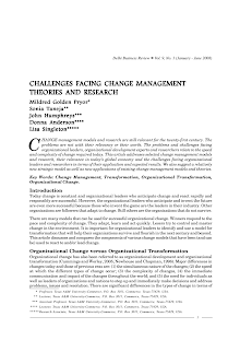 Study on Challenges Facing Change Management