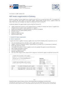 VAT invoice requirements in Germany