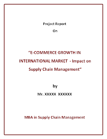 MBA Study Report on Supply Chain Management : International Market