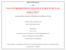 SALES PROMOTION STRATEGY USED IN RETAIL INDUSTRY