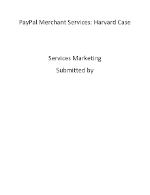 Paypal Merchant Services: Case Analysis