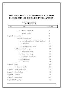 Financial Study on Performance of Vijai Electricals Ltd Through Ratio Analysis