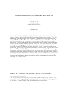 Study on Econometric Modeling of Multivariate Irregularly-Spaced High-Frequency Data