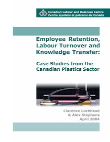 Case Study on Labour Turnover and Knowledge Transfer: Canadian Plastics Sector