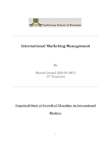 Project report on Mauritius market