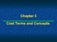 Cost Terms and Concepts