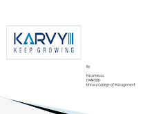 About on karvy finance
