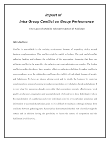 Report on Intra-Group Conflict
