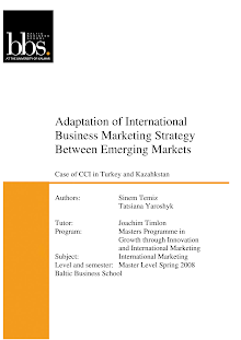 Research Study in International Business Marketing Strategy Between Emerging Markets