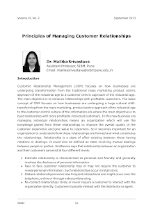 Study Notes on Principles of Managing Customer Relationships