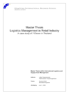 Case Study on Logistics Management in Retail Industry