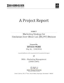 Marketing Strategy for Hindustan Dorr-Oliver Ltd