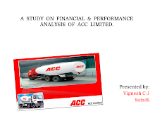 STUDY ON FINANCIAL AND PERFORMANCE ANALYSIS OF ACC LIMITED