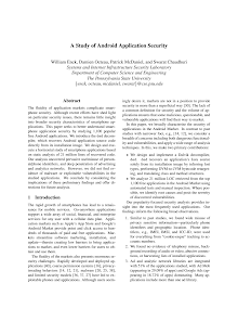 White Paper on Android Application Security