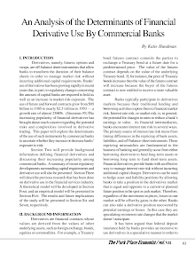 Study on Analysis of the Determinants of Financial Derivative