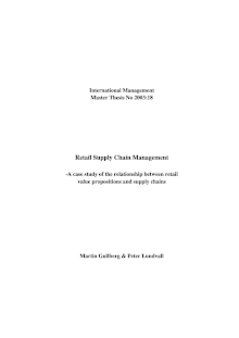 Case on Study of the Relationship between Retail Value Propositions and Supply Chains