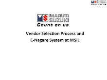 Vendor Selection and E-Nagare at Maruti