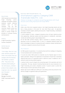 Case study on EXIM Transtrade India Pvt. Ltd.