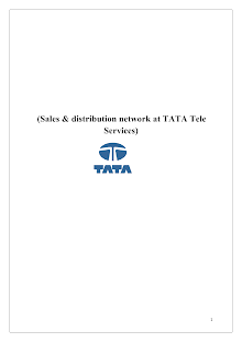 Tata tele services sales and distribution