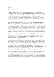 Company Analysis: ONGC