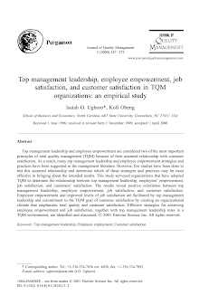 Customer Satisfaction in TQM Organizations