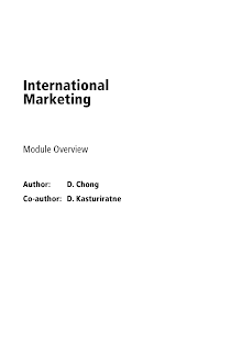 Module on International Marketing