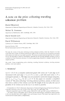 Study on Prize Collecting Traveling Salesman Problem