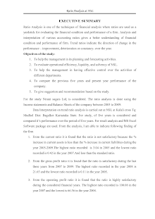 Project on Ratio Analysis of Nirani Sugar Limited
