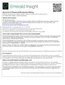 Inflation and Mexican economic growth long run relation and threshold effects