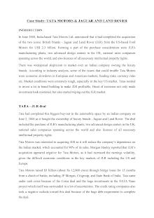 Case study Tata-JLR M&A