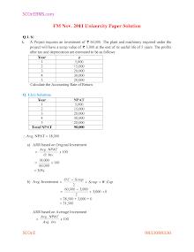 tybms sem 5 FM board paper with solution nov 2011