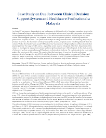Case Study on Duel between Clinical Decision Support System