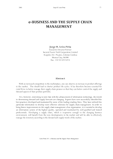 Study on E-business and the Supply Chain Management