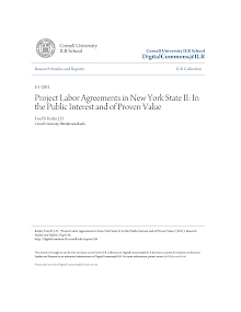 Project Report on Labor Agreements