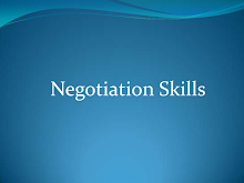 Study on Negotiation Skills - Startup