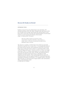 Research Study on Retail