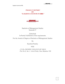 Project report on Logistic System in DHL