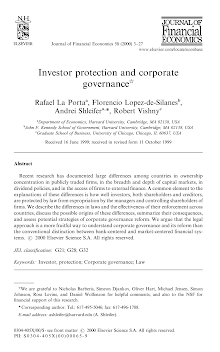 Research Report on Investor protection and corporate governance