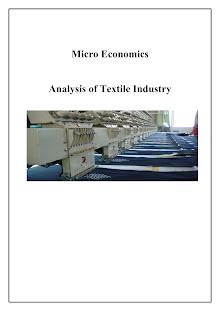 Microeconomics-Textile Industry