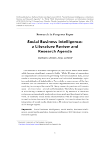 Research Paper on Social Business Intelligence