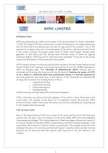 HR Practice NTPC