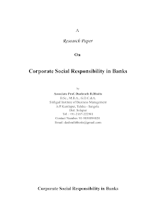 Corporate Social Responsibility in Banks