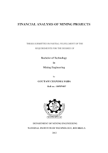 Analytical Study on Financial analysis - mining projects