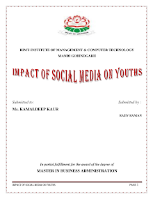 Impact of social media on youths
