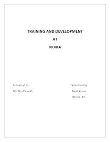 Training and development at nokia