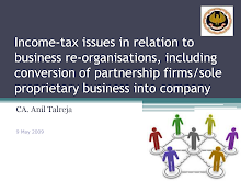 Income Tax Issues w.r.t business Re-organization