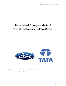 Financial and Strategic Analysis of Ford Motor Company and Tata Motors