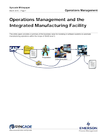 Whitepaper on Operations Management and the Integrated Manufacturing Facility