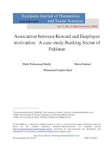 Case on Study of Reward and Employee Motivation: Pakistan